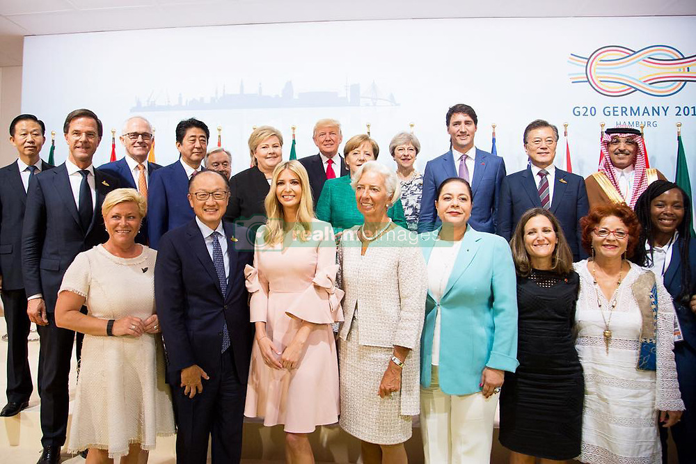 """Ivanka Trump releases a photo on Instagram with the following caption: """"Today at the #G20 World Leaders launched the Women Entrepreneurs Finance Initiative (We-Fi) with the World Bank Group. This unprecedented facility, initiated by the U.S., will help address the unique barriers for women entrepreneurs in the developing world by providing access to capital, markets and networks. We-Fi will have a profound impact on the women's entrepreneurial ecosystem around the world. #WeFi #POTUSatG20 #Entrepreneurship \ud83d\udcf8: Official White House Photo by Shealah Craighead"""". Photo Credit: Instagram *** No USA Distribution *** For Editorial Use Only *** Not to be Published in Books or Photo Books ***  Please note: Fees charged by the agency are for the agency's services only, and do not, nor are they intended to, convey to the user any ownership of Copyright or License in the material. The agency does not claim any ownership including but not limited to Copyright or License in the attached material. By publishing this material you expressly agree to indemnify and to hold the agency and its directors, shareholders and employees harmless from any loss, claims, damages, demands, expenses (including legal fees), or any causes of action or allegation against the agency arising out of or connected in any way with publication of the material."""