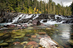 Waterfall, McDonald Creek, Glacier National Park