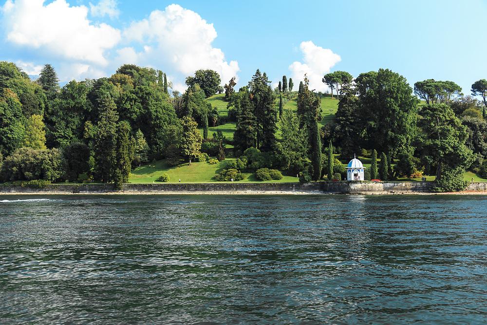 The garden of Villa Melzi on Lago di Como, Italy. The garden was the first  english style garden on the lakes.
