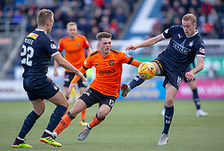 Dundee United's Jamie Robson and Falkirk's Zak Rubben. Falkirk 0 v 2 Dundee United, Scottish Championship game played 22/9/2018 at The Falkirk Stadium.