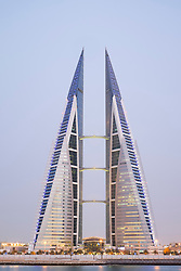 View of World Trade Center in Manama in Kingdom of Bahrain
