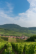 The town of Rodern on the Route des Vins (Wine Route) in Alsace, France.