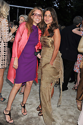 Left to right, REBECCA CORNER and ELLA KRASNER at the annual Serpentine Gallery Summer Party sponsored by Burberry held at the Serpentine Gallery, Kensington Gardens, London on 28th June 2011.