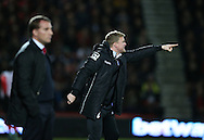 Eddie Howe during the Capital One Cup match between Bournemouth and Liverpool at the Goldsands Stadium, Bournemouth, England on 17 December 2014.