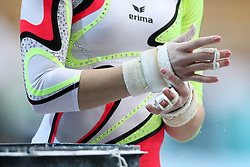 Hands of Carina Kroell of Germany in Uneven Bars during Qualifications of Artistic Gymnastics FIS World Challenge Koper 2017, on May 12, 2017 in Arena Bonifika, Koper, Slovenia. Photo by Matic Klansek Velej/ Sportida