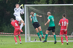 Christoffer Petersen (FC Helsingør) taber bolden under kampen i Sydbank Pokalen, 1. runde, mellem Bispebjerg Boldklub og FC Helsingør den 2. september 2020 i Lersø Parken (Foto: Claus Birch).