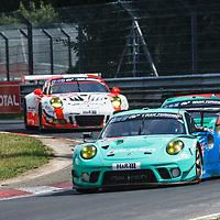 #44, Porsche 911 GT3 R, Falken Motorsports, drivers: Klaus Bachler, Joerg Bergmeister, Martin Ragginger, Dirk Werner at ADAC Total 24-Hour Race on 22.06.2019 at Nürburgring Nordschleife