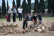 Mourners show their respect to those killed in the Soma coal mining disaster which has killed almost 300 workers and left tens injured missing and injured. Soma, western Turkey.
