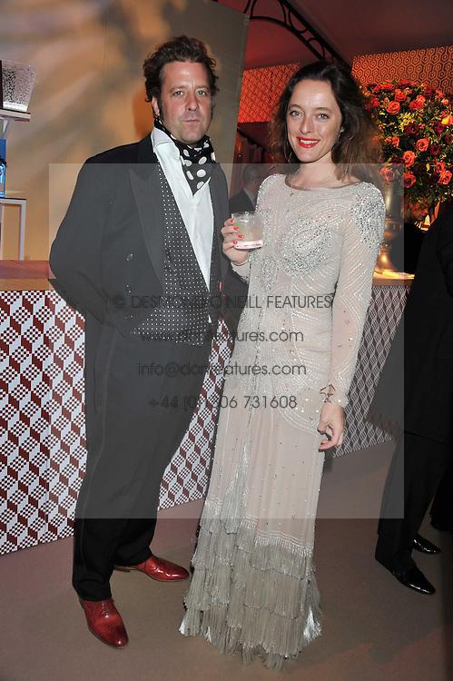 ALICE TEMPERLEY and LARS VON BENNIGSEN at the Raisa Gorbachev Foundation Gala held at the Stud House, Hampton Court, Surrey on 22nd September 22 2011