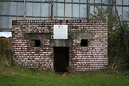 The World War II bunker situated on the hill at the home end at The Oval, Belfast, pictured before Glentoran hosted city-rivals Cliftonville in an NIFL Premiership match. Glentoran, formed in 1892, have been based at The Oval since their formation and are historically one of Northern Ireland's 'big two' football clubs. They had an unprecendentally bad start to the 2016-17 league campaign, but came from behind to win this fixture 2-1, watched by a crowd of 1872.