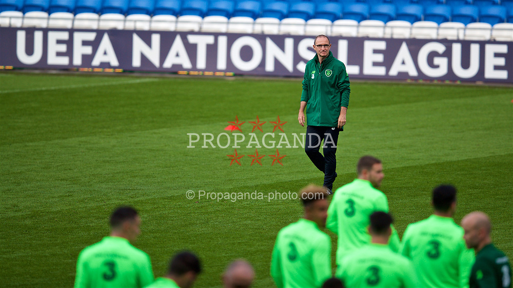 CARDIFF, WALES - Wednesday, September 5, 2018: Republic of Ireland's head coach Martin O'Neill during a training session at the Cardiff City Stadium ahead of the UEFA Nations League Group Stage League B Group 4 match between Wales and Republic of Ireland. (Pic by David Rawcliffe/Propaganda)
