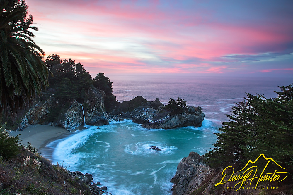Julia Pfeiffer Burns State Park at sunrise.  This is one of the gems of California's Big Sur Coast.