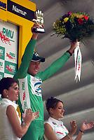 Sykkel<br /> Tour de France 2004<br /> 2. etappe<br /> 05.07.2004<br /> Foto: PhotoNews/Digitalsport<br /> NORWAY ONLY<br /> <br /> CHARLEROI - NAMUR<br /> <br /> THOR HUSHOVD