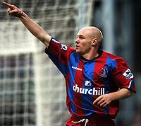 Photo: Javier Garcia/Back Page Images Mobile 07887 794393<br />03/01/2005 Crystal Palace v Aston Villa, FA Barclays Premiership, Selhurst Park<br />Andy Johnson celebrates his opener