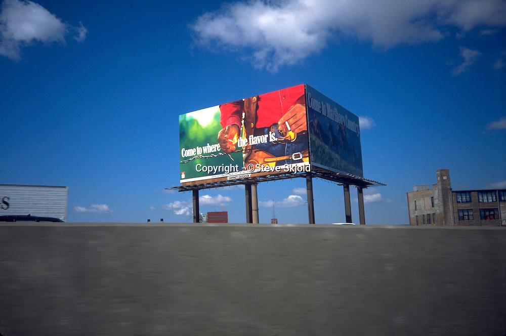 Marlboro cigarette billboard advertisement.  St Paul Minnesota USA