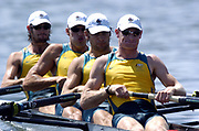 20040814 Olympic Games Athens Greece [Rowing]<br /> Photo  Peter Spurrier <br /> AUS M4- Bow Dave MaGowen, 2. Robert Jahrling, 3.Thomas laurich and David Dennis<br /> email;  images@intersport-images.com<br /> Tel +44 7973 819 551<br /> T<br /> <br /> <br /> [Mandatory Credit Peter Spurrier/ Intersport Images]