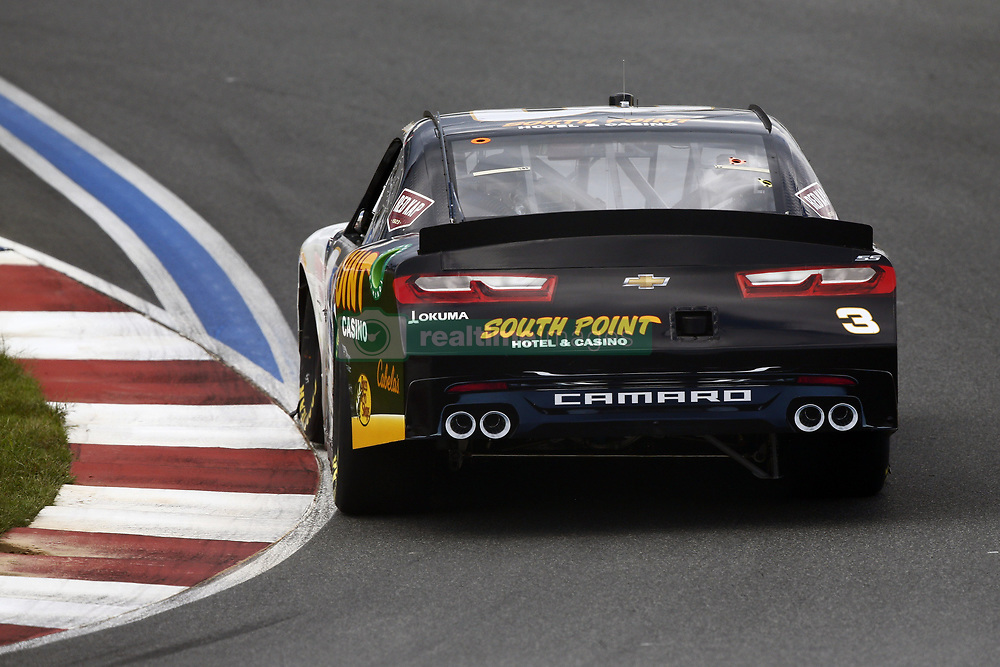 September 27, 2018 - Concord, North Carolina, United States of America - Brendan Gaughan (3) races through the turns during practice for the Drive for the Cure 200 at Charlotte Motor Speedway in Concord, North Carolina. (Credit Image: © Chris Owens Asp Inc/ASP via ZUMA Wire)