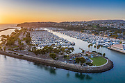 Dana Point Harbor Aerial at Sunset