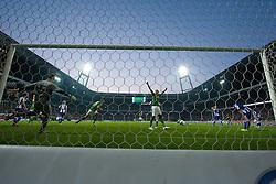 25.09.2011, Weser Stadion, Bremen, GER, 1.FBL, Werder Bremen vs Hertha BSC, im Bild.Claudio Pizarro (Bremen #24) macht das 2:1 gegen Thomas Kraft (BSC #35) .// during the Match GER, 1.FBL, Werder Bremen vs Hertha BSC on 2011/09/25,  Weser Stadion, Bremen, Germany..EXPA Pictures © 2011, PhotoCredit: EXPA/ nph/  Kokenge       ****** out of GER / CRO  / BEL ******