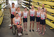 Caversham. Berkshire. UK<br /> The para Rowwing squad pose for a picture before they return to training,<br /> 2016 GBRowing, Para Rowing Media Day, UK GBRowing Training base near Reading, Berkshire.<br /> <br /> Friday  15/04/2016<br /> <br /> [Mandatory Credit; Peter SPURRIER/Intersport-images]
