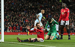 Manchester United's Juan Mata reacts after a failed attempt on goal during the Premier League match at Old Trafford, Manchester.