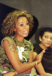 Host Chief Exec Dawn Cameron (right) and Mel B, Scary spice speak at a  press at during the official opening of the  Host Media Centre in Chapeltown Leeds on Thursday evening