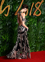 Kaia Gerber attending the Fashion Awards in association with Swarovski held at the Royal Albert Hall, Kensington Gore, London.