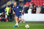 Scotland forward Johnny Russell (22) (Sporting Kansas City) warming up during the UEFA European 2020 Qualifier match between Scotland and Russia at Hampden Park, Glasgow, United Kingdom on 6 September 2019.