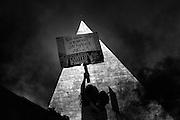 Sit in del Movimento  per il diritto alla Casa, Roma 14 aprile 2016. Christian Mantuano / OneShot