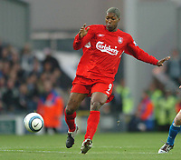 Photo: Back Page Images. 30/10/2004.<br /> Barclays Premiership. Blackburn Rovers v Liverpool. Ewood Park.<br /> Djibril Cisse