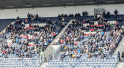 Away fans.<br /> Raith Rovers 2 v 4 Falkirk, Scottish Championship game today at Starks Park.<br /> © Michael Schofield.