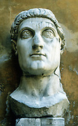 Constantine the Great (c 273-337) Roman Emperor from 306. Head from gigantic statue, now fragmented.