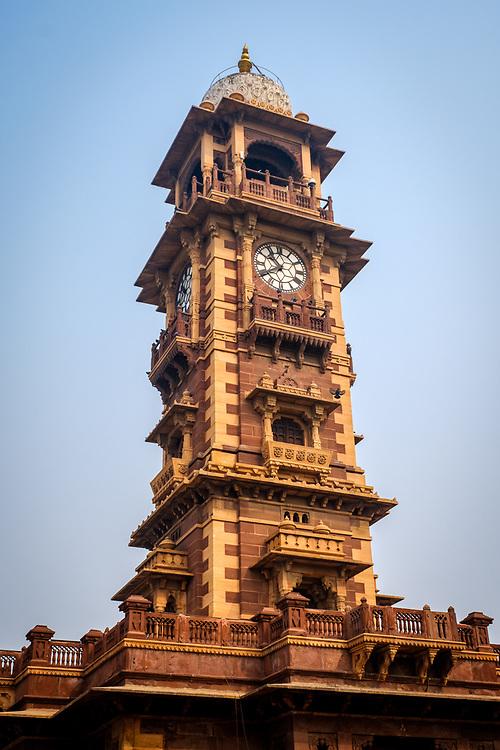 JODHPUR, INDIA - CIRCA NOVEMBER 2016:  Clock tower in Jodhpur