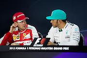 March 27-29, 2015: Malaysian Grand Prix - Sebastian Vettel (GER), Ferrari, Lewis Hamilton (GBR)