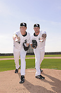 GLENDALE, AZ - FEBRUARY 20:  Gavin Floyd and John Danks of the Chicago White Sox pose together during a photo shoot on February 20, 2009 at Camelback Ranch in Glendale, Arizona. (Photo by Ron Vesely)