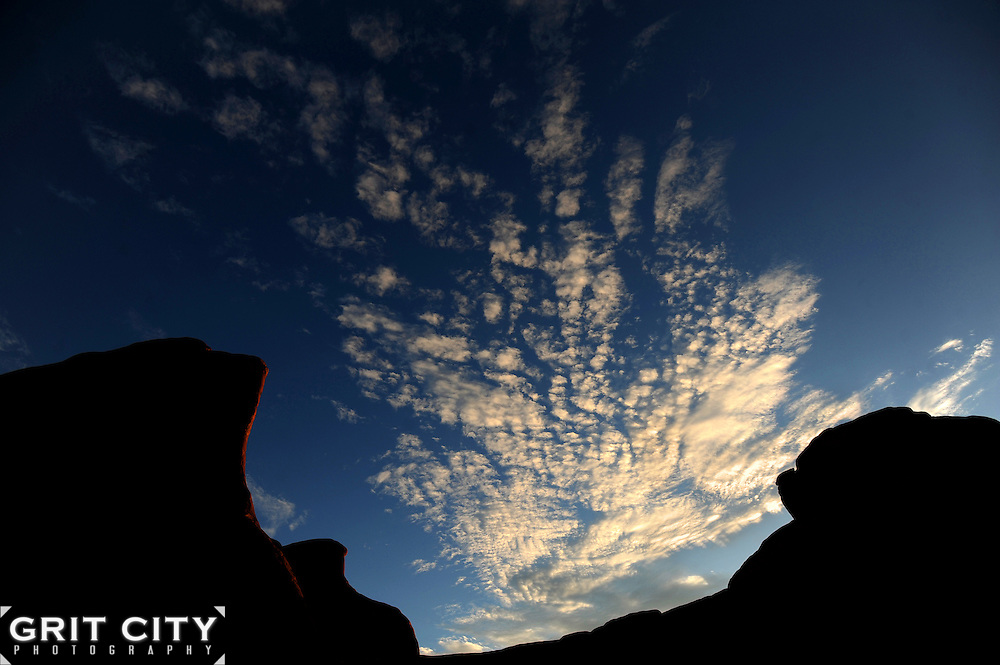 Sunrise in Arches National Park, Utah.