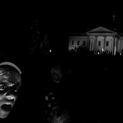 A crowd outside the White House celebrates the news of Osama bin Laden's death. People cheered and sang for hours in Washington DC after the Al-Qaida leader was announced killed by US Special Forces in Pakistan.