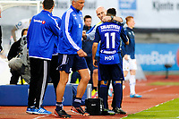 Fotball , Tippeligaen , Eliteserien<br /> Lørdag 27. Juni 2015 , 20150627<br /> Stabæk - Strømsgodset<br /> Bob Bradley klemmer Yassine El Ghanassy<br /> Foto: Sjur Stølen / Digitalsport
