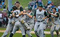 Seneca players charge onto the field after beating Paramus 12-3 in the championship game played in Toms River. / Russ DeSantis/For The Record