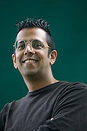 Bestselling British science writer Simon Singh pictured at the Edinburgh International Book Festival where he talked his latest work. The three-week event is the world's biggest literary festival and is held during the annual Edinburgh Festival. 2008 was the Book Festival's 25th anniversary and featured talks and presentations by more than 500 authors from around the world.