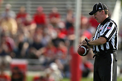 15 September 2012:  Back Judge Kurt Walderbach during an NCAA football game between the Eastern Illinois Panthers and the Illinois State Redbirds at Hancock Stadium in Normal IL