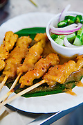 Grilled chicken satay, street food