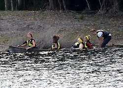 """EXCLUSIVE: """"I'm a Celebrity, Get me Out of Here!"""" UK contestants compete in a canoe race, at a lake just outside of Byron Bay. 17 Nov 2018 Pictured: I'm a Celebrity UK contestants. Photo credit: MEGA TheMegaAgency.com +1 888 505 6342"""