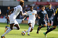 Leroy Fer of Swansea city © makes a break. Swansea city v Sampdoria , pre-season friendly at the Liberty Stadium in Swansea, South Wales on Saturday August 5th 2017.<br /> pic by Andrew Orchard, Andrew Orchard sports photography.