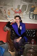 PAULINE CHARMAKJIAN, The preview of LAPADA Art and Antiques Fair. Berkeley Sq. London. 21 September 2015.