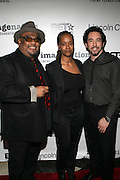 l to r: Stew, Melissa Thornton and Bill Breagan at The ImageNation celebration for the 20th Anniversary of ' Do the Right Thing' held Lincoln Center Walter Reade Theater on February 26, 2009 in New York City. ..Founded in 1997 by Moikgantsi Kgama, who shares executive duties with her husband, Event Producer Gregory Gates, ImageNation distinguishes itself by screening works that highlight and empower people from the African Diaspora.