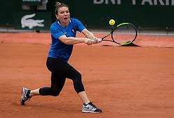 May 21, 2019 - Paris, FRANCE - Simona Halep of Romania practices at the 2019 Roland Garros Grand Slam tennis tournament (Credit Image: © AFP7 via ZUMA Wire)
