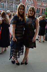 Princess Beatrice Of York and Princess Eugenie Of York at the V&A Summer Party 2017 held at the Victoria & Albert Museum, London England. 21 June 2017.<br /> Photo by Dominic O'Neill/SilverHub 0203 174 1069 sales@silverhubmedia.com