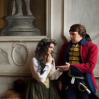 """On the set of Atlantis-Film  """"The secret of Casanova"""" Produced  byZDF Director: Eike Schmitz  Casanova: Adrian Becker. Costumes, Settings and Historic Research: Atelier Pietro Longhi<br /> <br /> Giacomo Girolamo Casanova de Seingalt 2 April 1725 - 4 June 1798) was an Italian adventurer and author from the Republic of Venice. His autobiography, Histoire de ma vie (Story of My Life), is regarded as one of the most authentic sources of the customs and norms of European social life during the 18th century.<br /> <br /> He has become so famous for his often complicated and elaborate affairs with women that his name is now synonymous with """"womanizer"""". He associated with European royalty, popes and cardinals, along with luminaries such as Voltaire, Goethe and Mozart."""