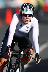 New Zealand's Linda Villumsen competes in the Women's Individual Time Trial during the Women's Individual Time Trial at Currumbin Beachfront during day six of the 2018 Commonwealth Games in the Gold Coast, Australia.